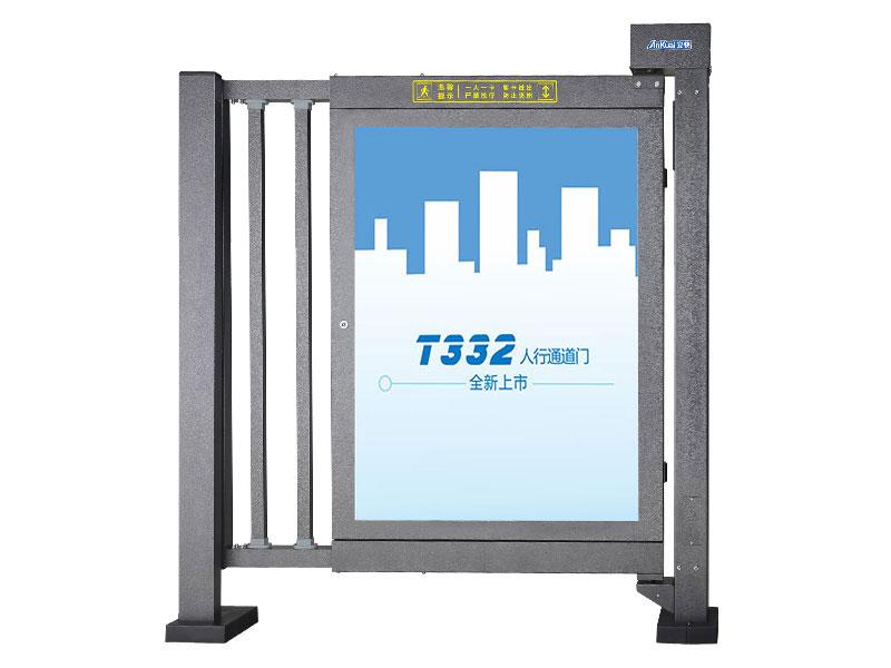 安快T332D人行通道广告门-闭门器型